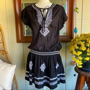 Romeo & Juliet Black Boho Dress